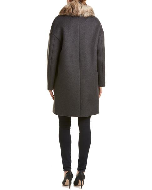 Soia & Kyo Suvi Wool-Blend Coat~1055340133