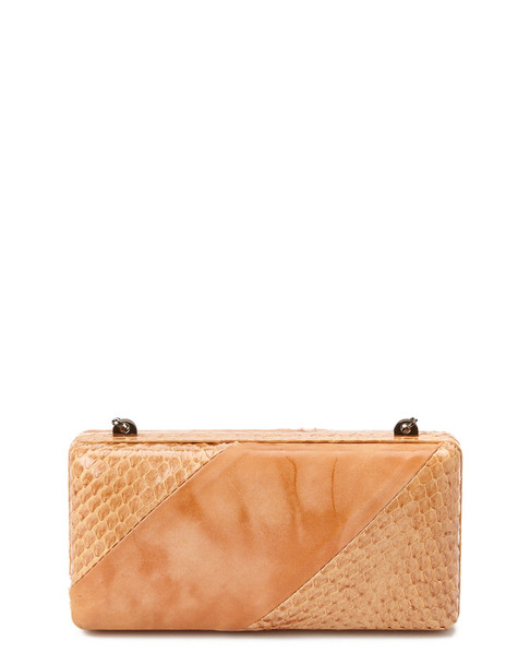 M.C.L Leather & Snakeskin-Embossed Leather Clutch~1111325625
