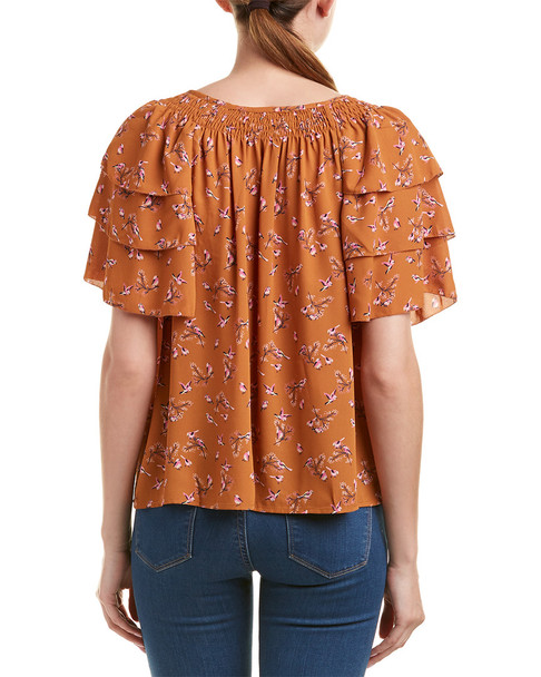 Moon River Tiered Sleeve Top~1411101043