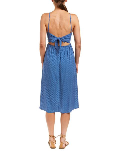 Adeline Polka Dot Midi Dress~1411156742