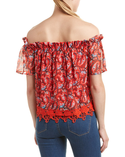 Allison New York Off-Shoulder Floral Top~1411215589