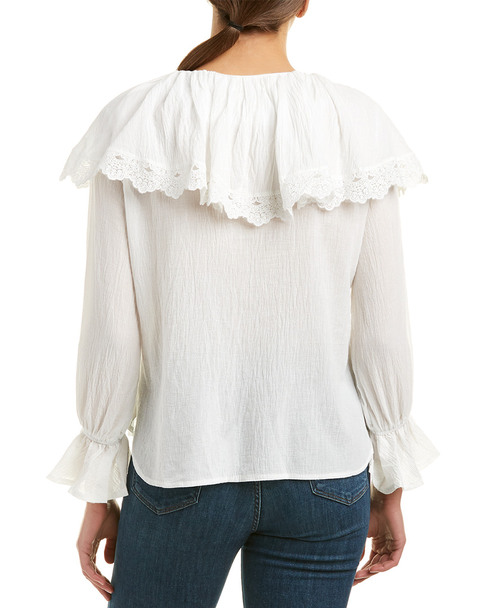 Allison New York Lace-Up Blouse~1411227055