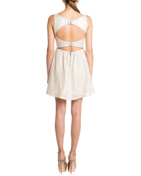 alice + olivia Marla Textured Cutout Back Dress~1411262968
