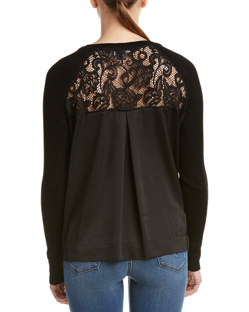French Connection Lace-Back Sweater~1411295317