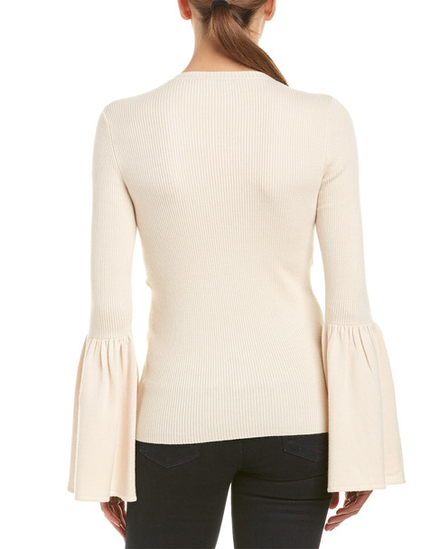 BCBGMAXAZRIA Bell-Sleeve Wool-Blend Sweater~1411319854