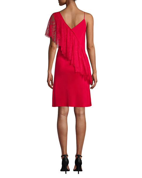 Diane von Furstenberg Lace-Accented Sheath Dress~1411325747