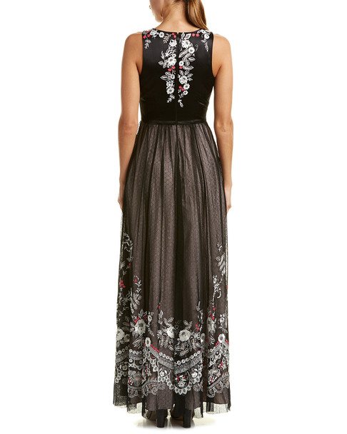 Karen Millen Floral Lace Maxi Dress~1411337453