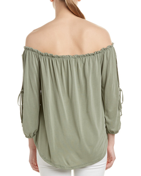 Hummingbird Cold-Shoulder Top~1411338125