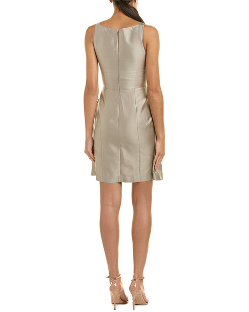 Armani Collezioni Silk-Blend Sheath Dress~1411359436