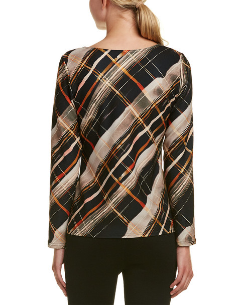 Sara Campbell Plaid Knit Top~1411379727