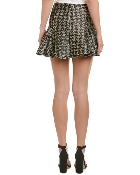 Parker Metallic Wool-Blend Mini Skirt~1411409332