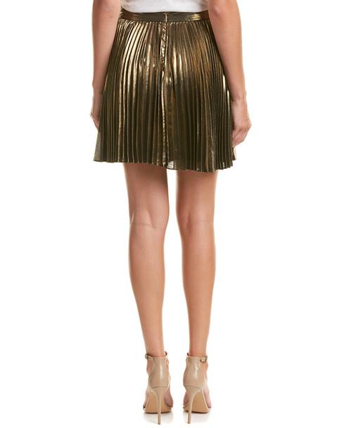 Haute Hippie Metallic A-Line Skirt~1411431360