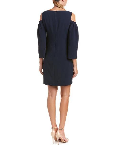 Trina Turk Kaipo Cold-Shoulder Shift Dress~1411440774