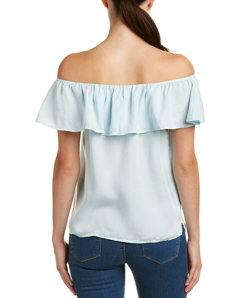 Glam Ruffled Off-the-Shoulder Top~1411461864