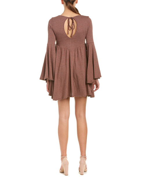 Anama Bell-Sleeve Mini Dress~1411533143