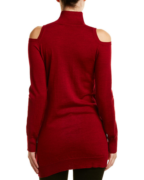 Three Dots Cold-Shoulder Wool Sweater~1411557414