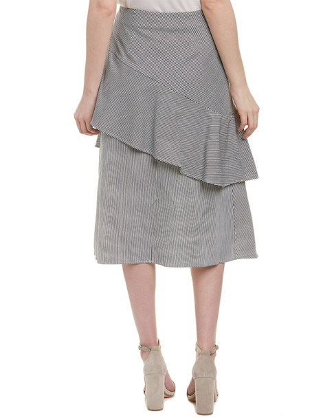 Lea & Viola Ruffle Midi Skirt~1411579471