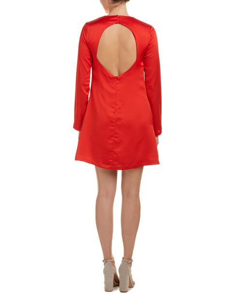 Olivaceous Keyhole Back Shift Dress~1411582279