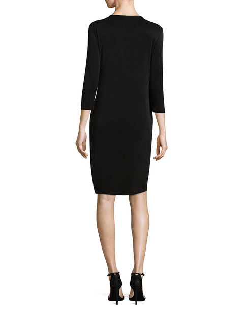 Three Dots Draped Wrap Dress~1411594043