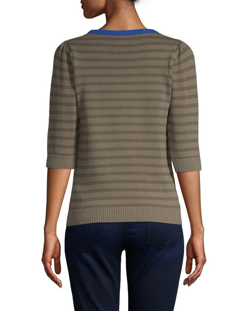 Manoush Striped Bow Sweater~1411637413