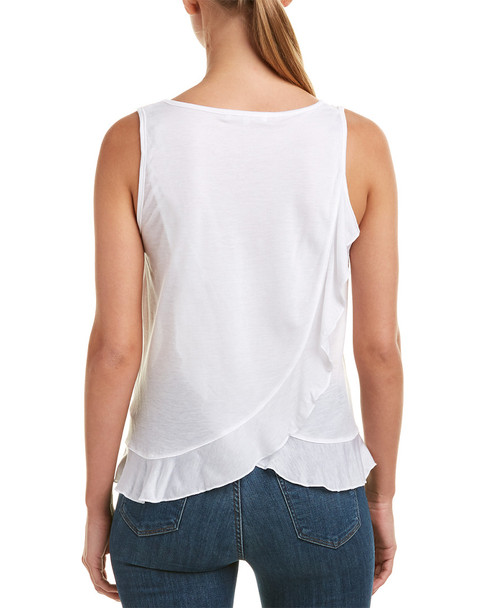 Three Dots Ruffle Hem Tank~1411646875
