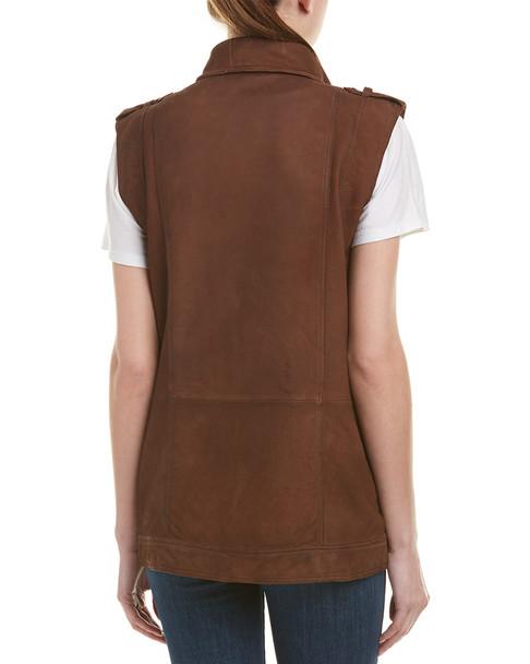 Jakett Angela Nubuck Leather Vest~1411670986