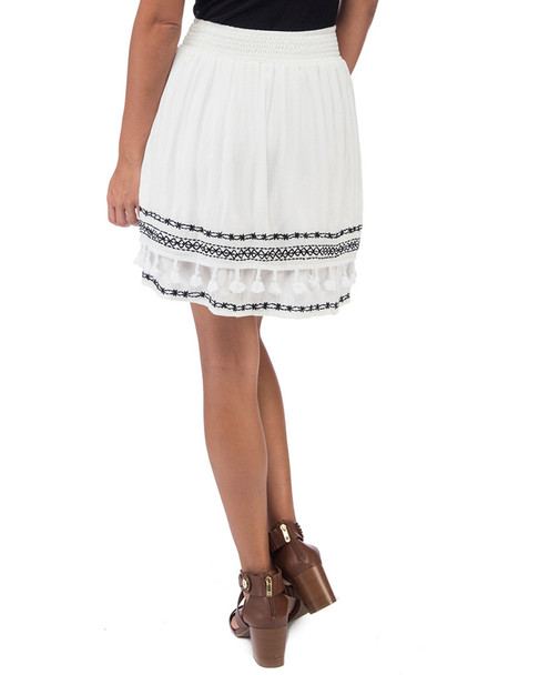 Bobeau Monroe Embroidered Skirt~1411686257