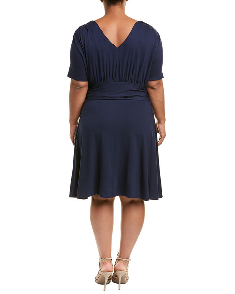 Three Dots Plus Shirred Shift Dress~1411722734