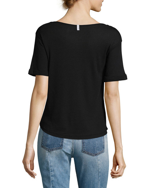 Lot78 Ribbed V-Neck T-Shirt~1411769104