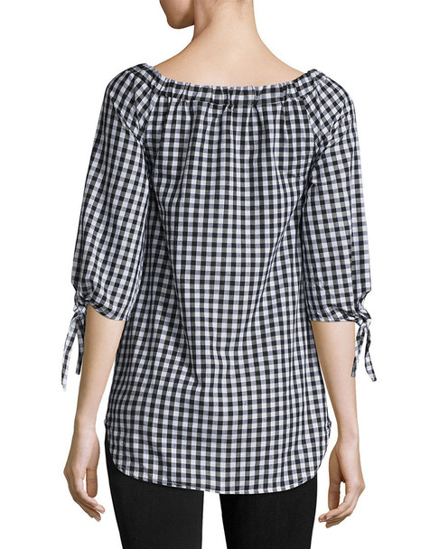 RENVY Plaid Tied Top~1411771180