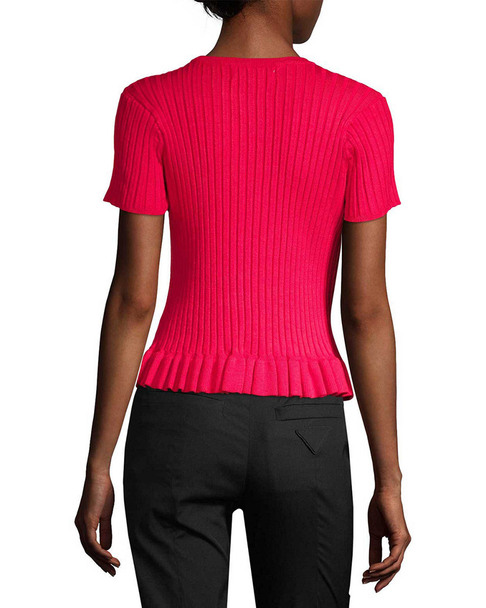 John + Jenn Bette Ribbed Peplum Top~1411773784