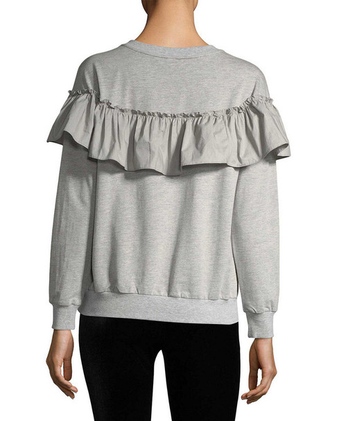RENVY Ruffled Cotton-Blend Sweater~1411774278