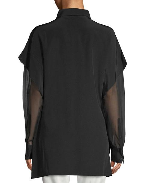 Diane von Furstenberg Silk Layered Sleeve Blouse~1411790005