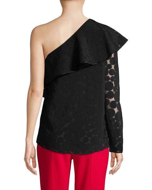 Diane von Furstenberg One-Shoulder Ruffle Front Top~1411790015