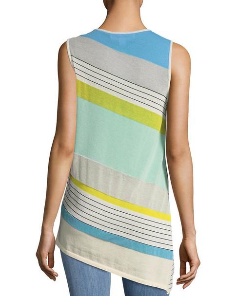 Diane von Furstenberg Striped Asymmetric Shell~1411803223
