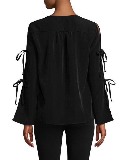 SUPPLY & DEMAND Tie Detail Blouse~1411804381
