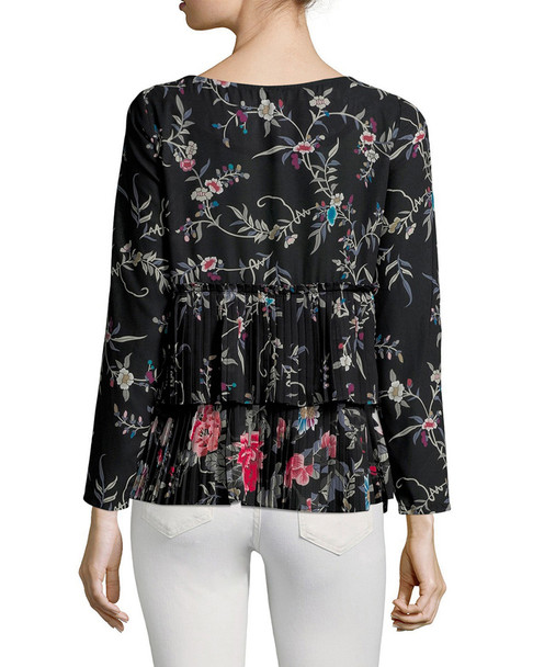 Plenty By Tracy Reese Pleated Floral T-Shirt~1411808945