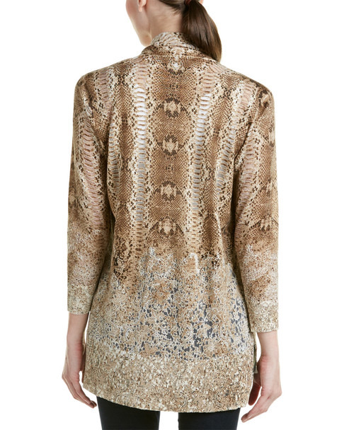 Magaschoni Silk & Cashmere Blend Burnout Long Sleeve Cardigan~1411820654