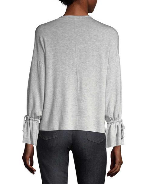 SUPPLY & DEMAND Bell Sleeve Tie Sweatshirt~1411824185