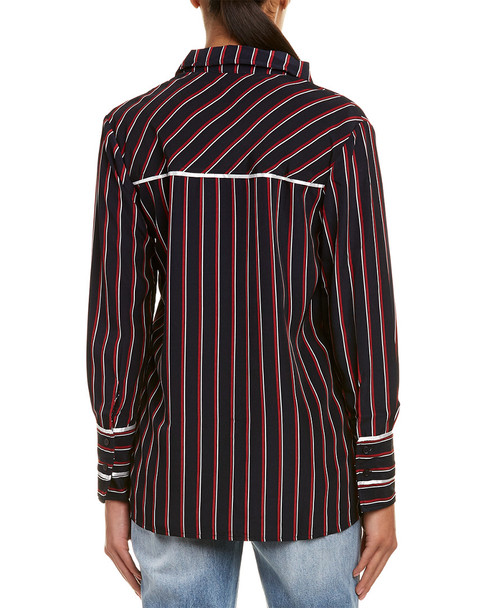 EVIDNT Stripe Blouse~1411873975