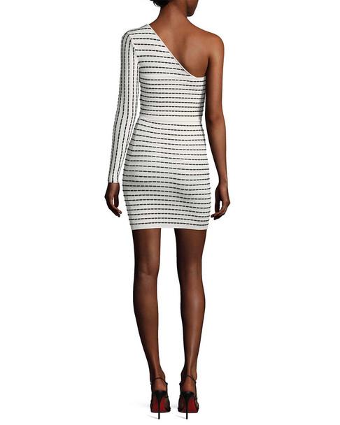 Ronny Kobo Stretch One-Sleeve Dress~1411884296