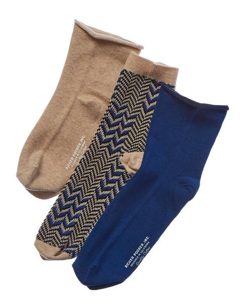 Richer Poorer Set of 3 Assorted Crew Sock~1412672219