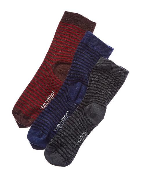 Richer Poorer Set of 3 Wool-Blend Crew Sock~1412672223