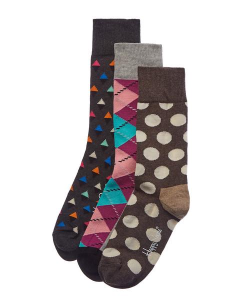 Happy Socks 3pk Crew Socks~1412700114