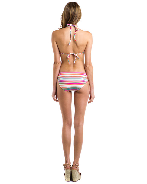 "Helen Jon ""Cabo"" Fuchsia Stripe Ring Bottom~1414174153"