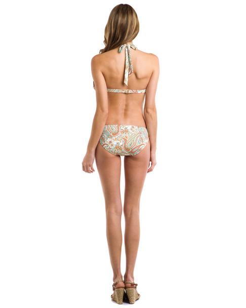 """Helen Jon """"St. Barths"""" Coral Multi Print Hipster Bottom~1414174163"""