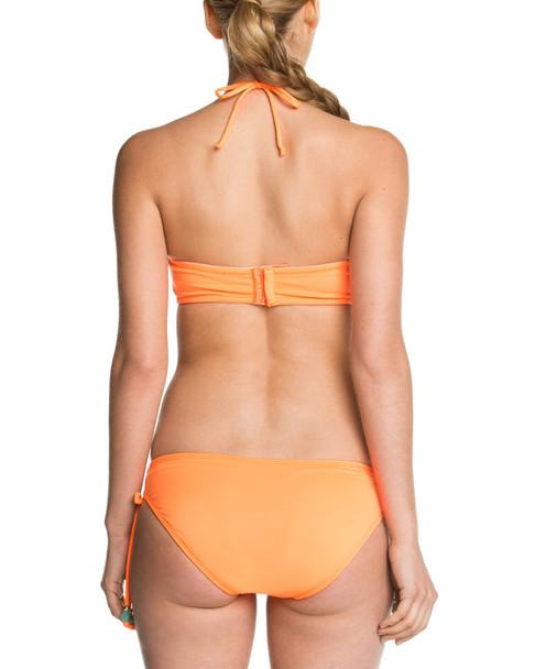 Shoshanna Solid Neon Orange Beaded Bow Brief Bottom~1414248346
