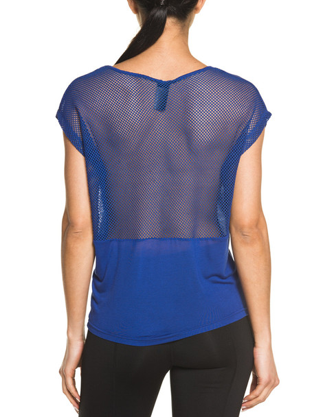 Electric Yoga Navy Mesh Back Tee~1450416763