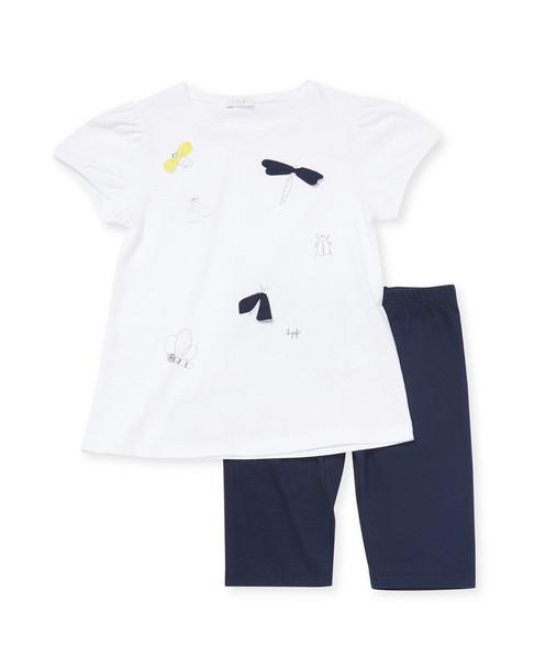 Il Gufo T-Shirt & Legging Set~1511092926