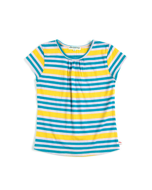 "Appaman Girls' ""Grammercy"" Squash Stripe Cotton Tee~1511433464"